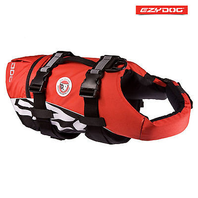 EZYDOG DOG FLOTATION DEVICE - Life Jackets For Dogs - Red Medium FLOAT