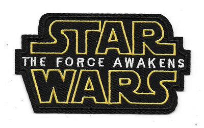 Star Wars Episode VII: The Force Awakens Movie Name Logo Embroidered Patch NEW