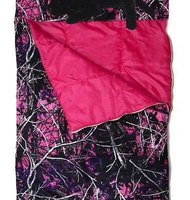 Nip Pink Purple Muddy Girl Camo Camouflage Slumber Sleeping Bag Lab  Dog Pillow