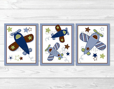 Airplane Little Aviator Printable Nursery Wall Art