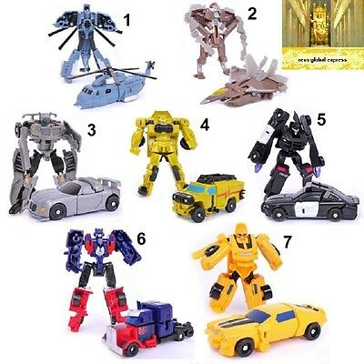 Transformers 3 Mini Toy Figures Transformation Plastic Robot Car Educational kid