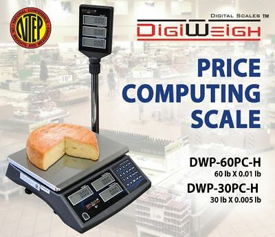 DWP-60PC-H 60 Lbs Computing Scale With Pole Display NTEP Legal For Trade