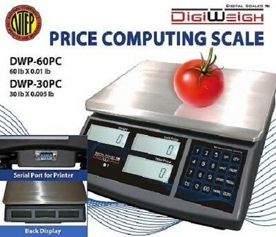 DWP-60PC 60 Lbs Price Computing Scale NTEP Legal For Trade Certified