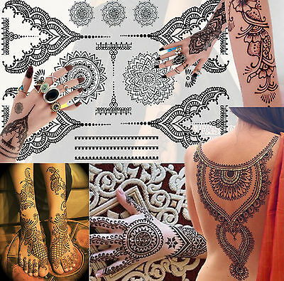 New Luxury Party celebration wedding Indian Arabic White Henna Tattoos UK Stock