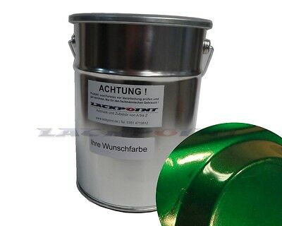 1 Liter 2K Car paint Dark Green Metallic without Lacque & Dilution Lackpoint