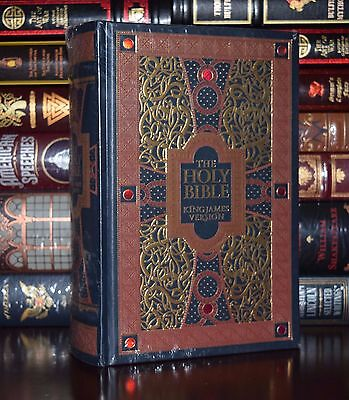 Holy Bible King James Version Gustave Gore Sealed Leatherbound Collectible Ed