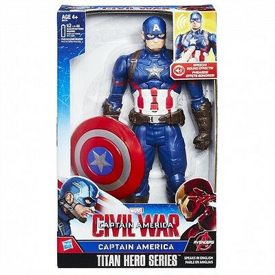 Official Marvel Avengers 12 Inch Electronic Action Figure (Captain America) NEW