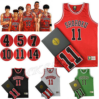 Anime Cosplay Slam Dunk Shohoku Basketball Replica Jersey Costume NO.1-15 Gift