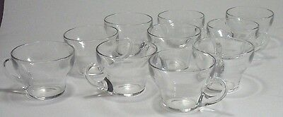 10 Elegant Glass Antique Punch Cups by Heisey 1902