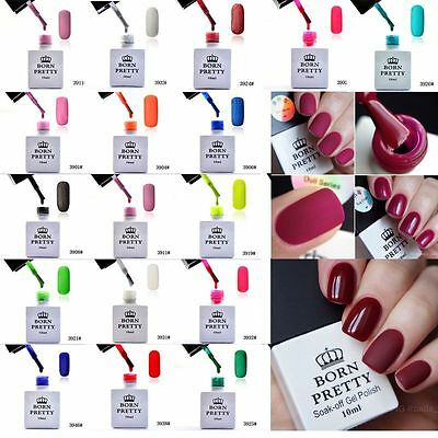 BORN PRETTY 10ml Matte Soak off UV Gel Builder Nail Art Polish Varnish Design