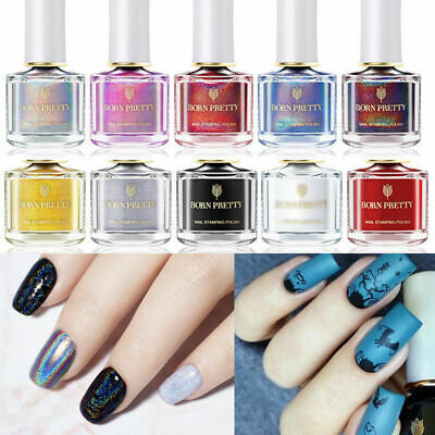 6ml Nail Polish BORN PRETTY Stamping Polish Nail Art Varnish Polish Design