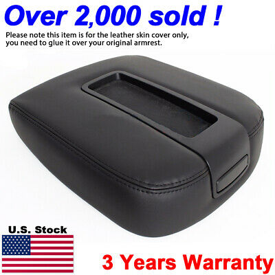 Armrest Center Console Leather Synthetic For Chevy Tahoe, Suburban 07-13 Black