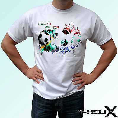 South Africa football flag - white t shirt top - mens womens kids baby sizes