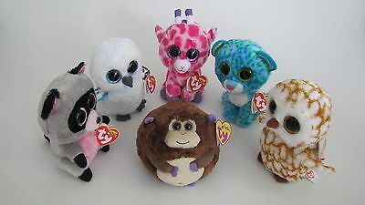 6 versch. ty beanie boos Stofftiere, Leona, Bananas,Rocco, Spells,Swoops, Twings