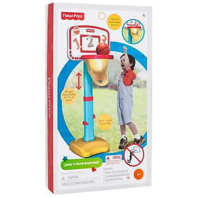 Height Adjustabe Fisher-Price Jump 'n Dunk Basketball w/Special Ball Return Net