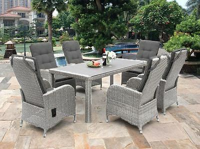 New Chamberry 6 Seater Rattan Dining Set Garden Patio Furniture