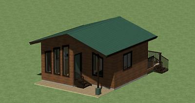 H400 Cabin Plans  With Free Set Of Greenhouse Plans And Energy Saving List