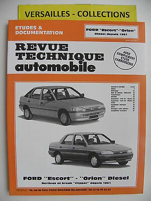 revue technique automobile RTA  Ford ESCORT / ORION diesel depuis 1991