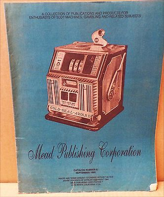 Vintage Mead Pub. CO Lists Books and Manuals on Owning a Slot Machine From 1984