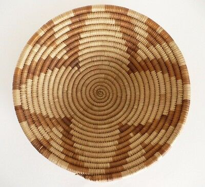 "Native American Weave Basket Bowl Tray. Very Nice Design. Approx. 9.5"" D"