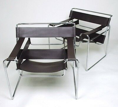 Rare Early Gavina Stendig Marcel Breuer Wassily Lounge Chairs 2 Avail Pre Knoll