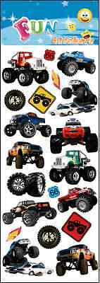 """Fantastic Fun Stickers """" Monster Truck"""" For Cards & Craft"""