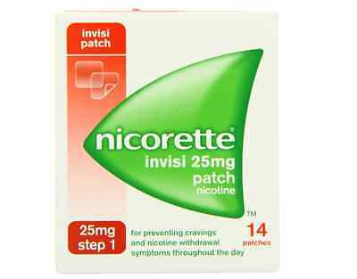 Nicorette Step 1 Stop Smoking Patches 25 mg (14 Nicotine Patches-Two Week Kit)