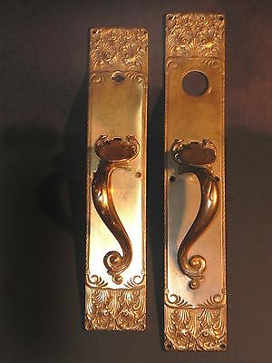 """Antique Set Of """"walsingham"""" Bronze Entry Hardware By Russel Erwin Co."""