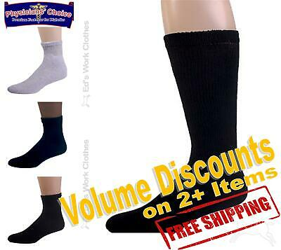 12 Pair 1 Dozen Physicians Choice Cushioned Diabetic Socks Any Color Made In USA