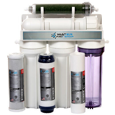 5 Stage Aquarium Reef Reverse Osmosis (RO/DI) Water Filter System - 75 GPD - USA