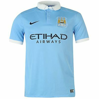 Official Nike Manchester City Home Football Shirt 2015/16 Mens Short Sleeves