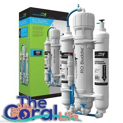 Aquatic Life Ro Buddie 3-Stage 100 Gpd Reverse Osmosis Ro System For Aquariums