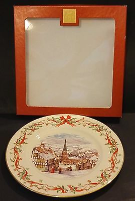 2001 Lenox Villages Around The World An English Village Collector Plate - Usa