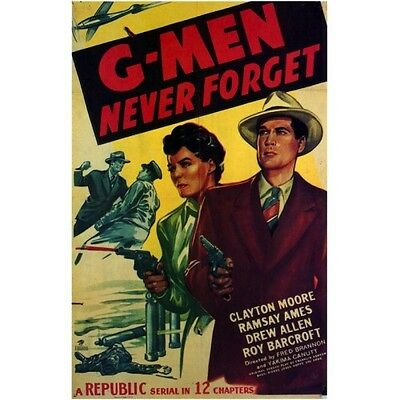 G-Men Never Forget  - Classic Cliffhanger Serial Movie DVD Clayton Moore