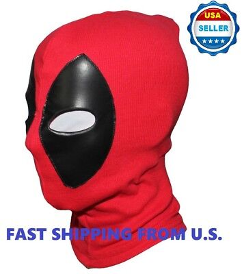 ❶2018 Deadpool Mask Leather Balaclava X-Men Halloween Costume Hood Cosplay❶
