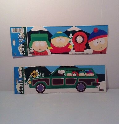 "South Park Stickers Set Of Two Station Wagon 8 3/4"" X 3"""
