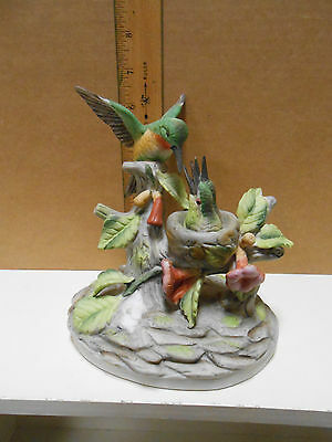 J Byron Royal Crown Porcelain Humming Bird  Figurine