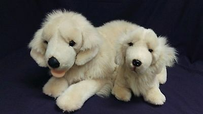 "E&J Classic Limited Prima Classic Collection Golden Retriever 30"" Mom & 15"" Pup"