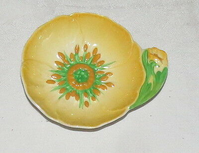 """Carlton Ware Buttercup 3.5/8"""" Round Bowl Dish, with handlel - excellent"""
