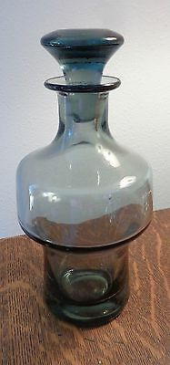 MID CENTURY MODERN SCANDINAVIAN Smoky GLASS DECANTER