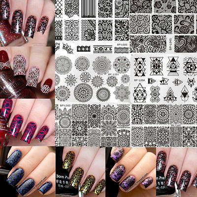 Born Pretty Nail Art Stamp Stamping Plates Templates Christmas Image L-Series