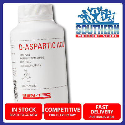 Gen-Tec D-Aspartic Acid 100% Pure Pharmaceutical Grade HPLC Tested Supplement
