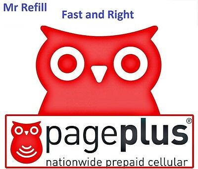PagePlus $12 Refill: 250 minutes /30 Days 3G Plan, applied to phone directly