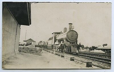 1918 Rp Postcard Port Augusta East West Railway Goods Train Going To Perth O86
