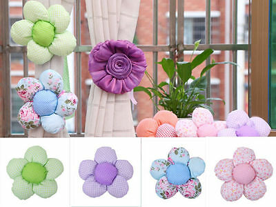 New Cute Flower Window Curtain Tieback Clip-on N Fastener For I Home Decor 1pcs