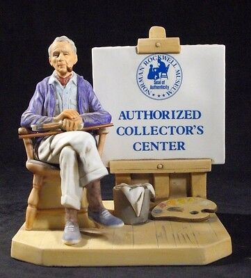 VERY RARE 1981 - Norman Rockwell Museum Authorized Collectors Center Sign Figure