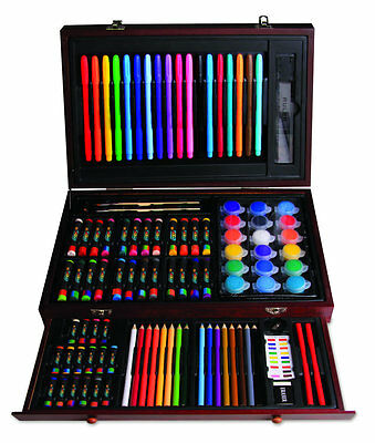 101pcs Art woolden Box Set,including Pencils,paints,markers,great gift for kids