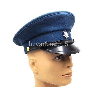 Ww2 Chinese Military Army Kmt Kuomintang Army Field Officer Hat Cap L