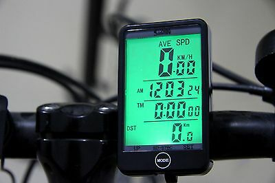 New 99MPH Wireless Bicycle Cycle  Computer Bike Speedo Speedometer + Touch