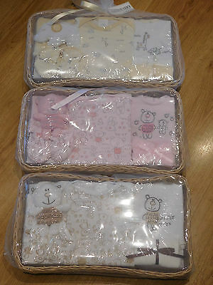 Baby 8 Piece Basket Set By Kris X Kids  Christening And Baby Showers Gp3294